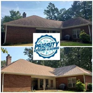 Priority Exterior Cleaning LLC provides Brandon, Mississippi's Best Roof Cleaning Services. Our soft wash technique and proprierty cleansers are best for safe roof cleaning with no damage.